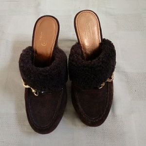 Coach mules/clogs in perfect condition